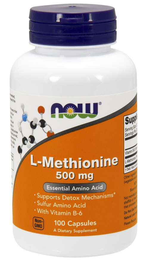 NOW® Foods NOW L-Methionine, 500mg, 100 kapslí