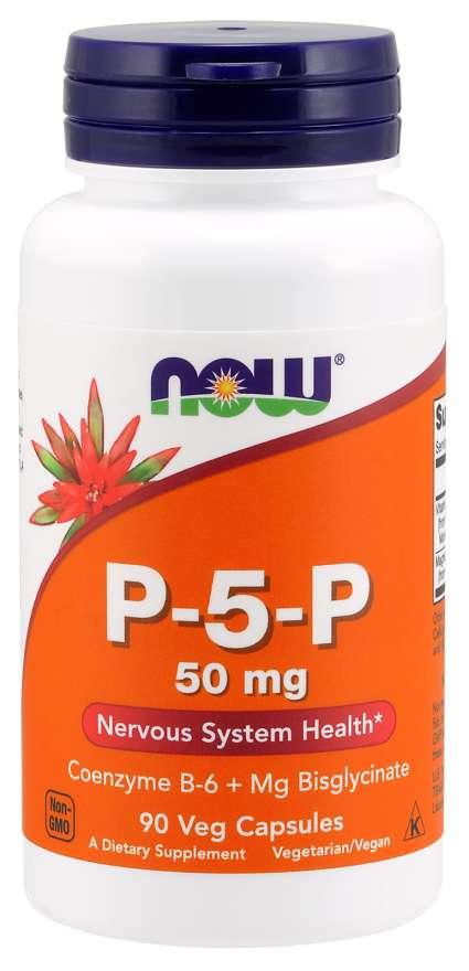 NOW Vitamin B6 P-5-P, 50mg, (vitamin B6 v aktivní formě), 90 kapslí