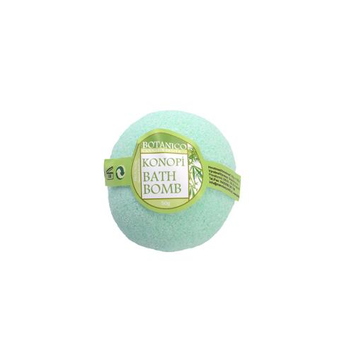 BOTANICO - bath bombs (šumivá koupelová koule), 50g - konopí