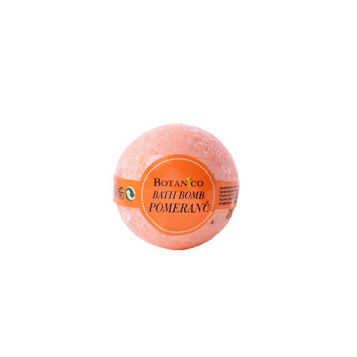 BOTANICO - bath bombs (šumivá koupelová koule), 50g - pomeranč