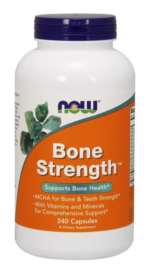 NOW® Foods NOW Bone Strength (silné kosti), 240 kapslí