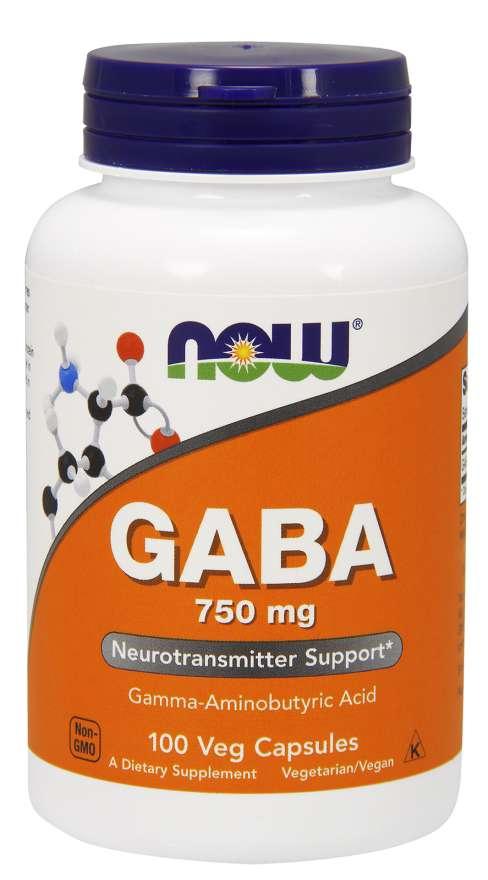 NOW® Foods NOW GABA 750 mg, 100 kapslí