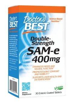 Doctor's Best SAM-e, 400 mg, 30 enterických tablet