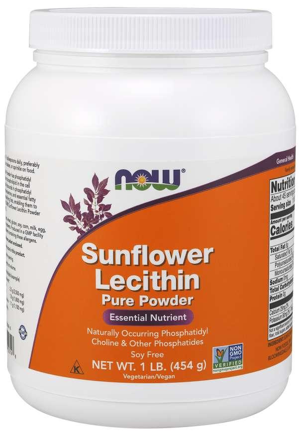 NOW® Foods NOW Sunflower Lecithin (slunečnicový lecitin), prášek, 454 g