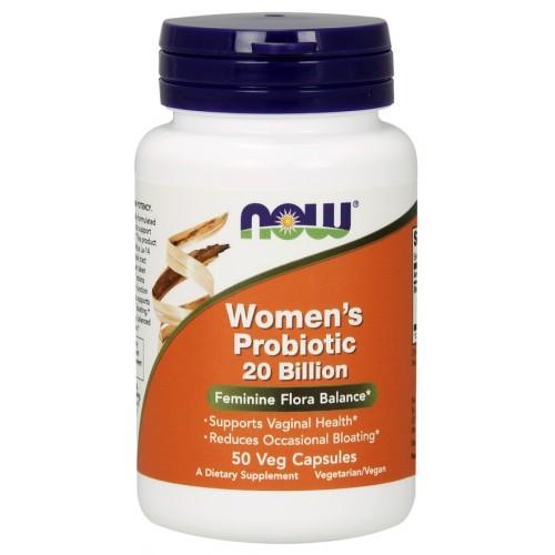 NOW® Foods NOW Women's probiotic (probiotika pro ženy), 20 miliard, 50 rostlinných kapslí