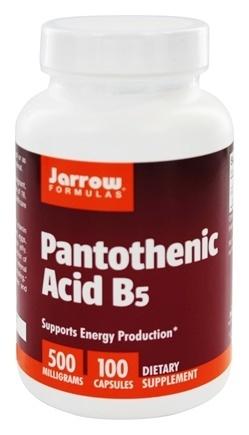 Jarrow Panthoteic Acid B5 (kyselina pantothenová), 500 mg, 100 kapslí