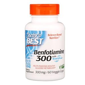 Doctor's Best Benfotiamine with BenfoPure (vitamin B1), 300 mg, 60 rostlinných kapslí