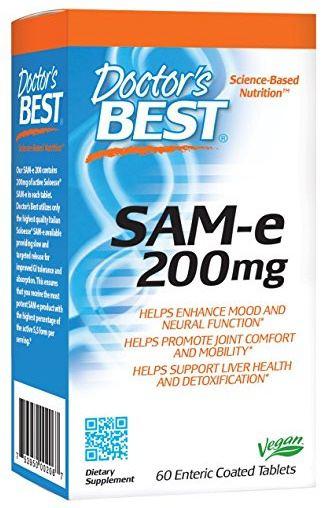 Doctor's Best SAM-e, 200 mg, 60 enterických tablet