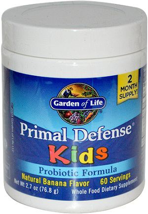 Garden of life Primal Defense Kids, Banana (probiotika pro děti, banán), 81 g