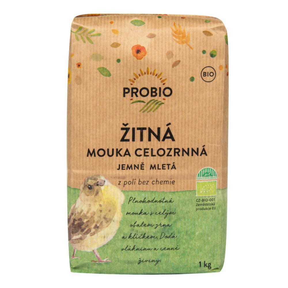 PROBIO - Mouka žitná celozrnná jemně mletá BIO, 1kg