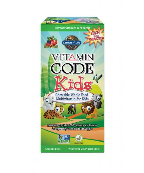 Garden of life Vitamin Code Kids (multivitamín pro děti) - 60 medvídků