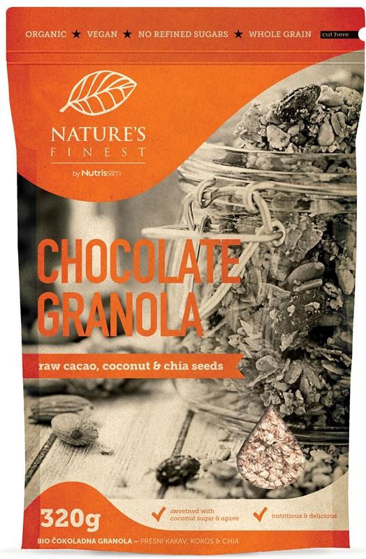 Nutrisslim Chocolate Granola Bio 320g *SI-EKO-001 certifikát