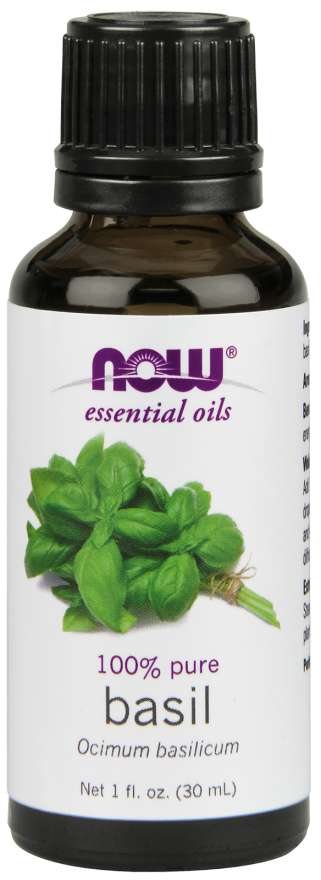 NOW® Foods NOW Essential Oil, Basil oil (esenciální bazalkový olej), 30 ml