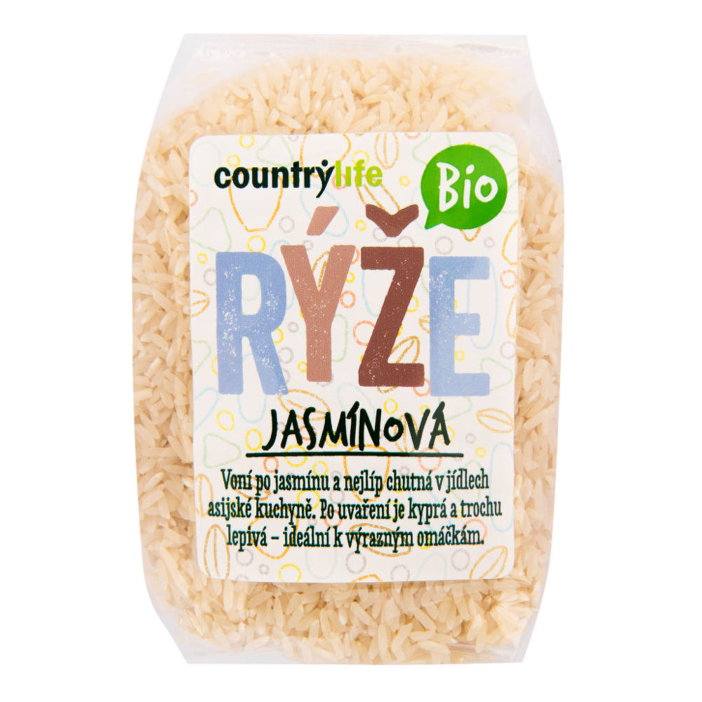 CountryLife - Rýže jasmínová BIO, 500g *CZ-BIO-001 certifikát