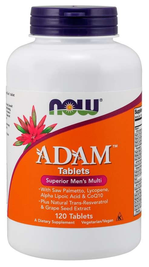 NOW® Foods NOW Multi Vitamins Adam, Men's Superior, 120 tablet