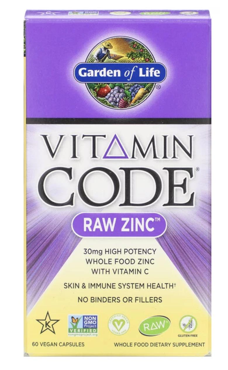 Garden of Life Vitamin Code RAW Zinc 30mg (zinek + vitamín C) - 60 kapslí