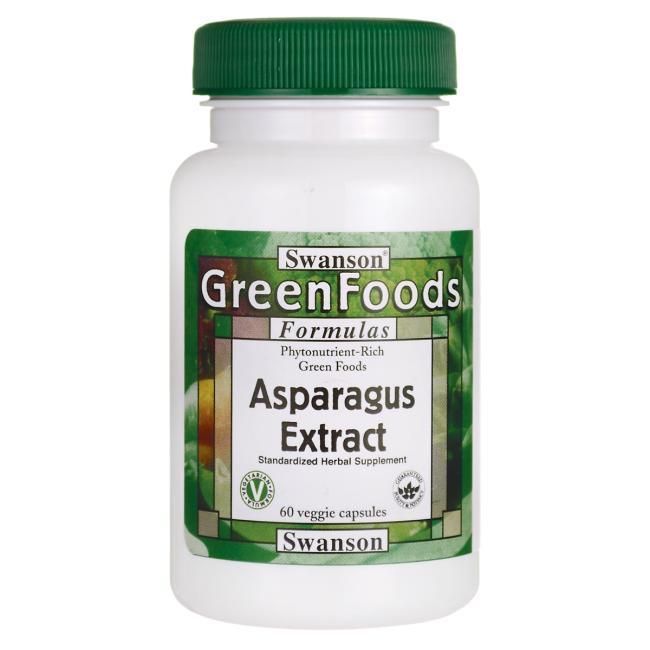 Swanson Asparagus Extrakt (chřest), 60 kapslí