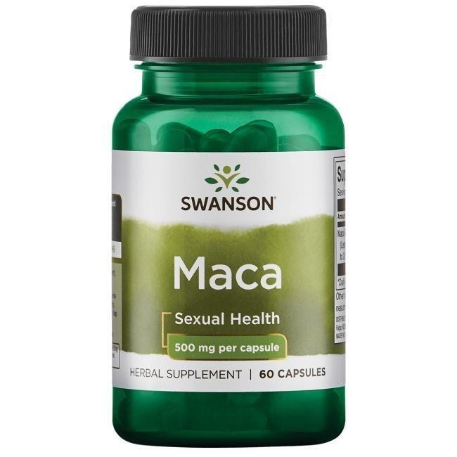 Swanson Maca Extrakt (řeřicha peruánská), 500 mg, 60 rostlinných kapslí