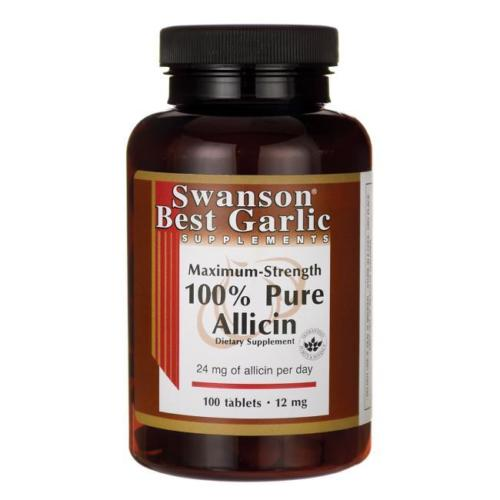Swanson 100% Pure Allicin, 12 mg Maximum Strength, 100 tablet