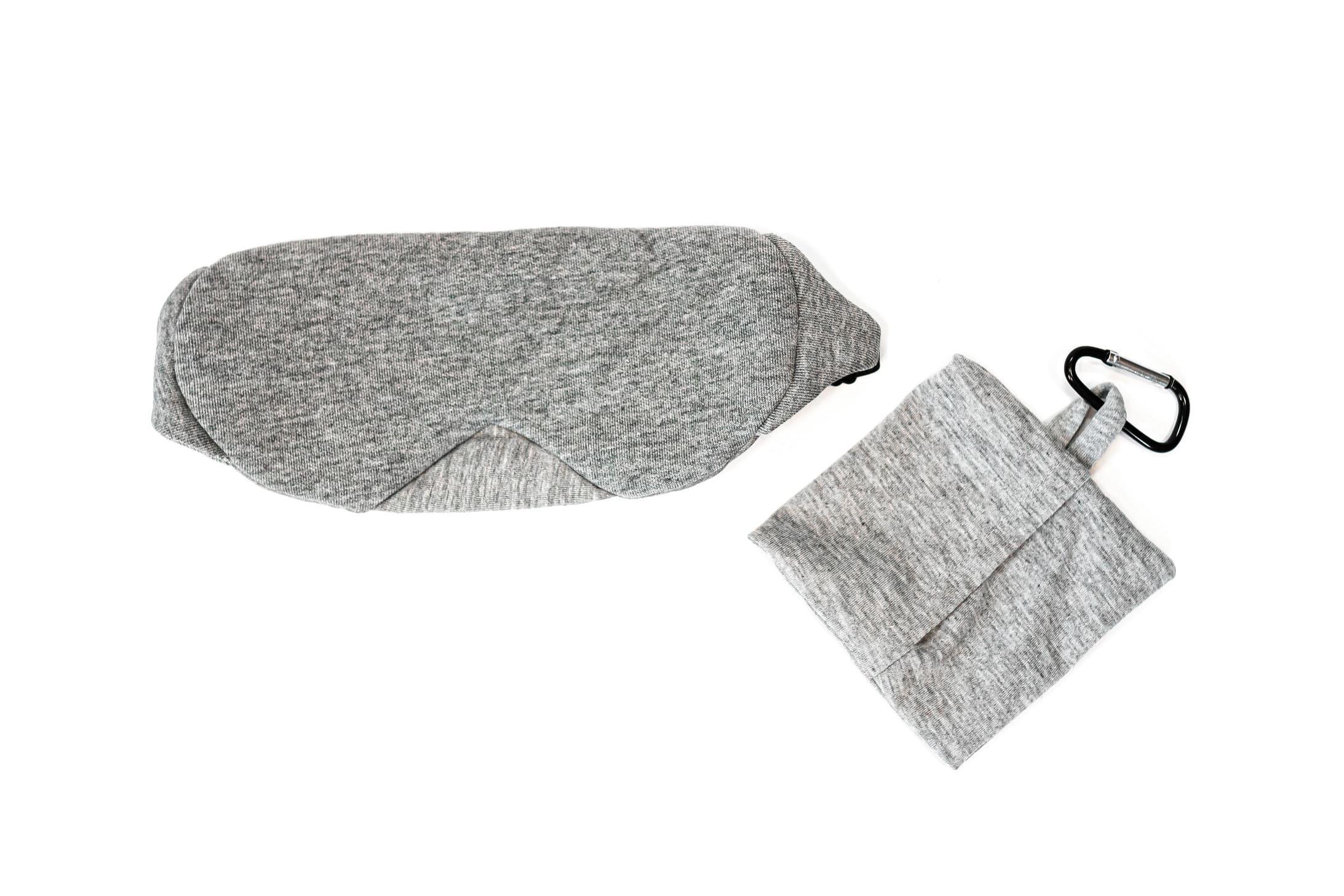BrainMax Luxusní maska na spaní (světle šedá) s pouzdrem