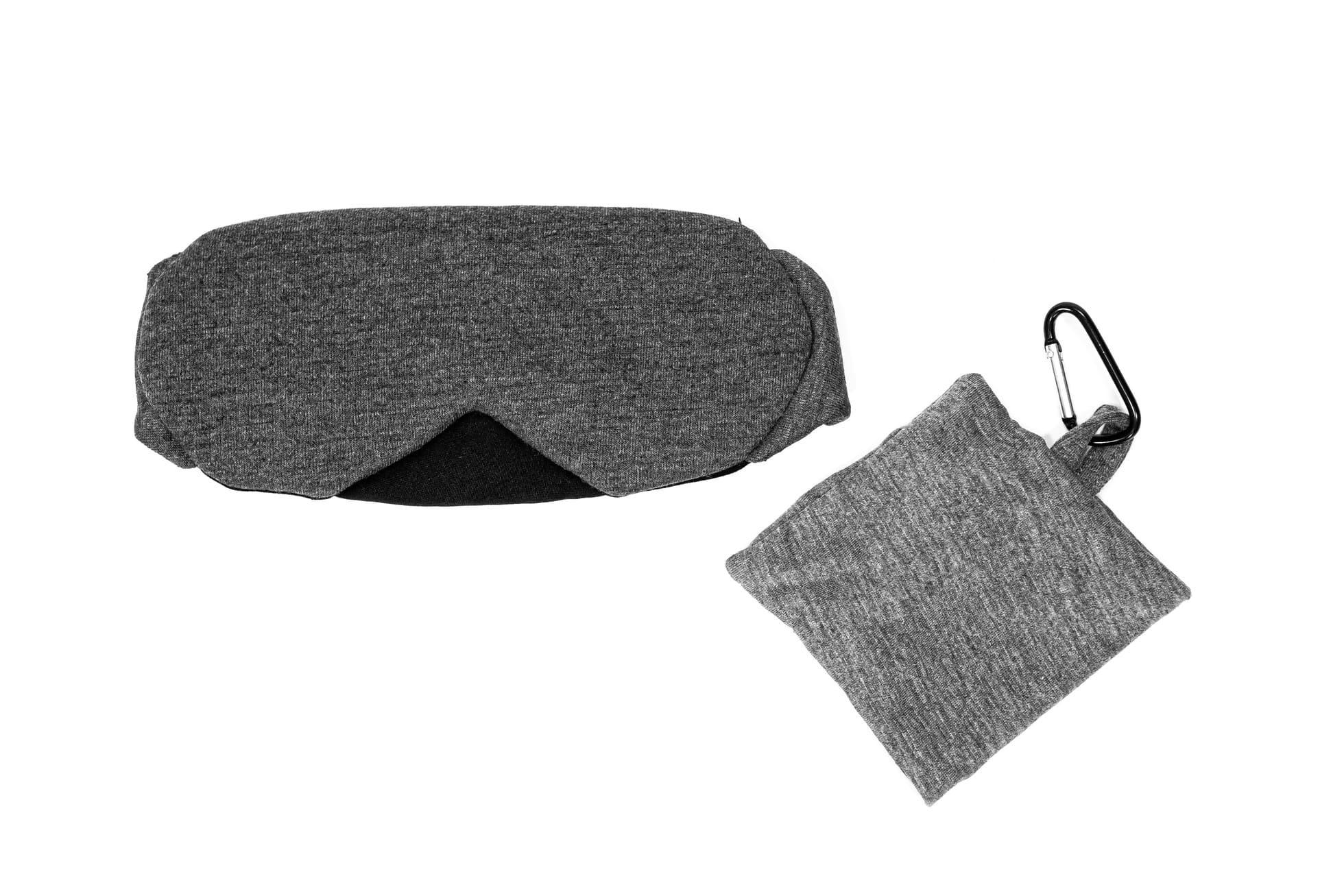 BrainMax Luxusní maska na spaní (tmavě šedá) s pouzdrem