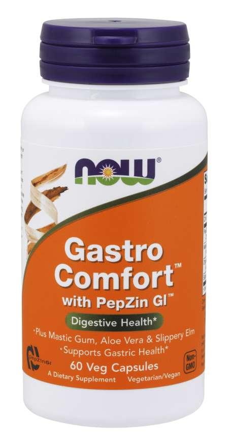 NOW® Foods NOW Gastro Comfort s PepZin GI, 60 rostlinných kapslí