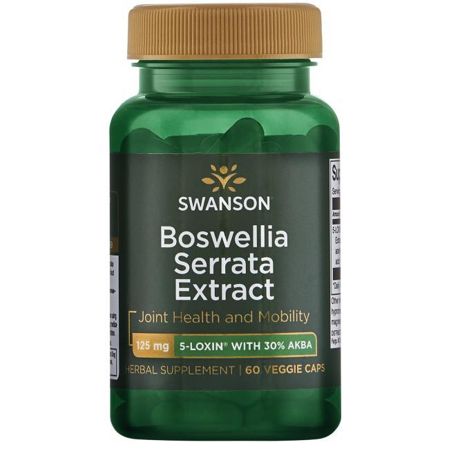 Swanson Boswellia Serrata Extract (Kadidlovník pilovitý extrakt), 125 mg, 60 rostlinných kapslí