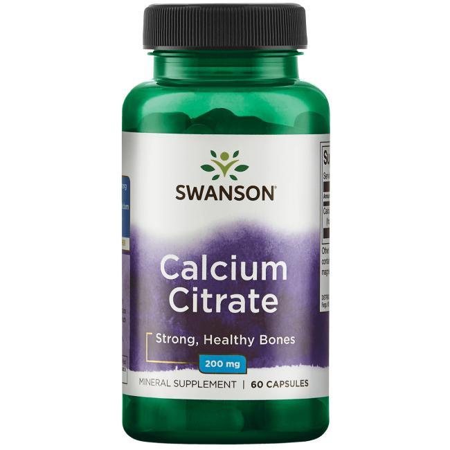Swanson Calcium Citrate (Vápník Citrát), 200 mg, 60 kapslí