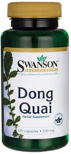 Swanson Dong Quai (Andělika čínská), 530 mg, 100 kapslí