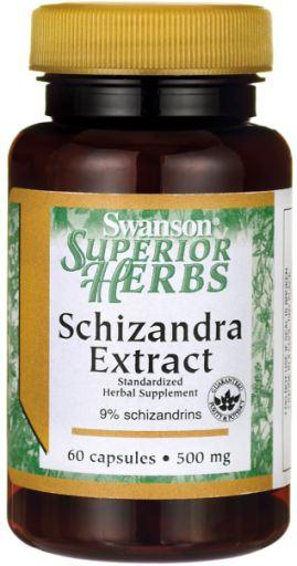 Swanson Schizandra Extract (Klanopraška čínská extrakt), 500 mg, 60 kapslí