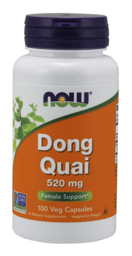 NOW® Foods NOW Dong Quai (Andělika čínská), 520 mg, 100 rostlinných kapslí