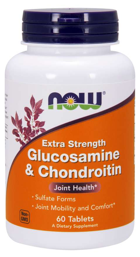 NOW® Foods NOW Glukosamin & Chondroitin Extra Strength (dvojitá síla), 60 tablet