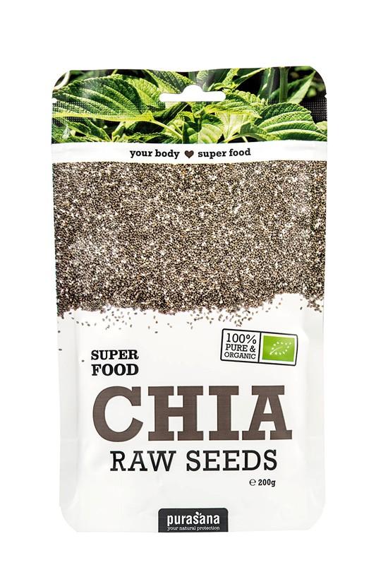 Purasana Chia Seeds BIO 200g (Chia semínka) BE-BIO-02 certifikát