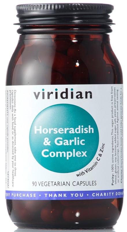 Viridian Horseradish & Garlic Complex (Křen & česnek) 90 kapslí