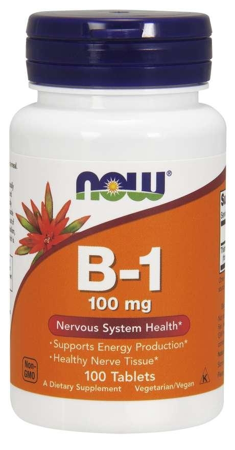 NOW Vitamin B1 Thiamin, 100mg, 100 tablet