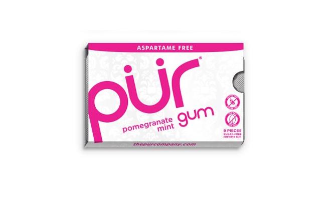 PÜR přírodní žvýkačky bez Aspartamu, Granátové jablko s mátou, 9ks