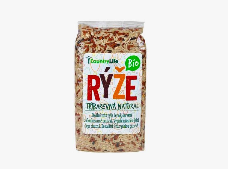 CountryLife - Rýže tříbarevná natural BIO, 500g *CZ-BIO-001 certifikát