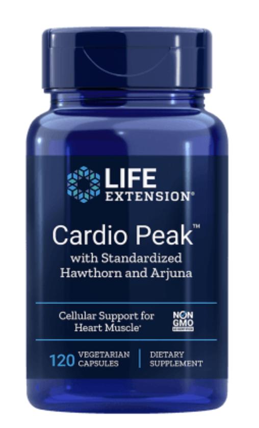 Life Extension Cardio Peak s hlohem a arjunou, Podpora Srdce a Cév, 120 veg. kapslí