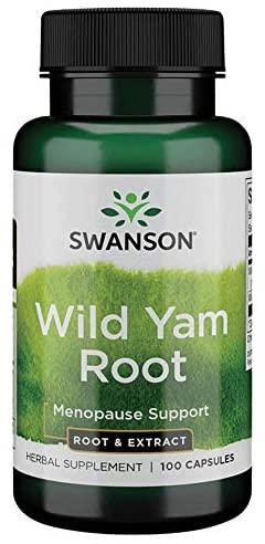Swanson Wild Yam Root (Smlditec hlupatý), 100 kapslí