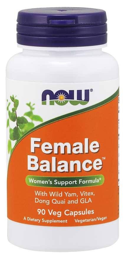 NOW® Foods NOW Female Balance (ženské zdraví), 90 rostlinných kapslí