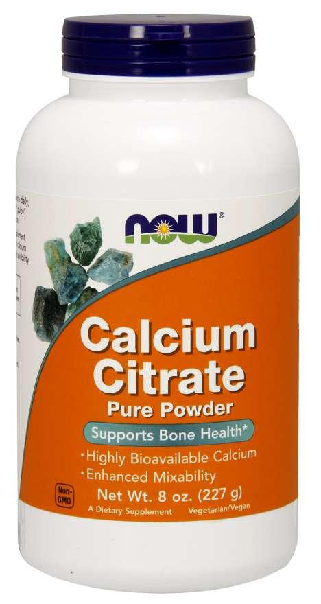 NOW Calcium Citrate Pure Powder, (Vápník čistý prášek), 227g
