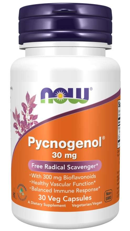 Levně NOW® Foods NOW Pycnogenol, 30 mg, 30 rostlinných kapslí