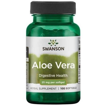 Swanson Aloe vera, 25 mg, 100 softgelových kapslí