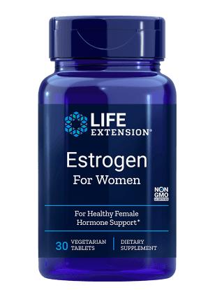 Life Extension Estrogen for Women, estrogen pro ženy, 30 vegetariánských tablet