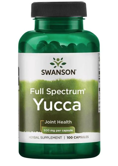 Swanson Yucca (Juka), 500 mg, 100 kapslí
