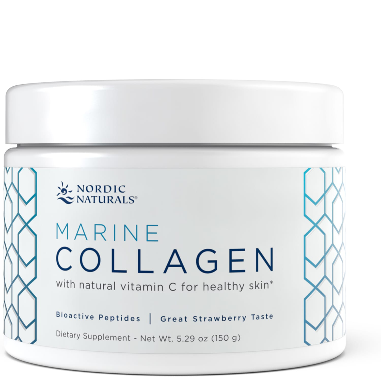 Nordic Naturals - Marine Collagen (mořský kolagen), Jahoda, 150 g
