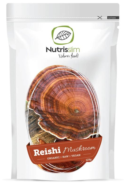 Nutrisslim Reishi Mushroom Bio 125g BE-BIO-001 certifikát