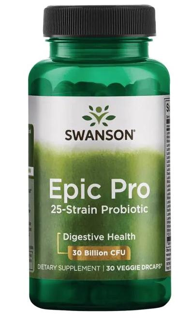 Swanson Epic Pro probiotika 25 kmenů, 30 mld CFU, 30 kapslí