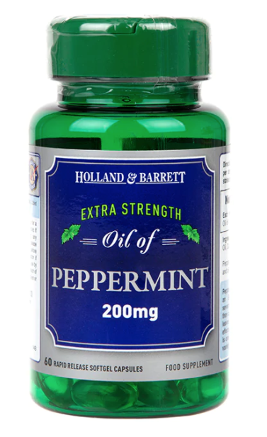 Holland & Barrett Oil of Peppermint (olej z máty peprné), 200 mg, 60 kapslí