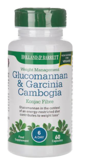 Holland & Barrett Holland&Barrett Glucomannan&Garcinia (Glukomanan a Garcinie kambodžská), 60 kapslí